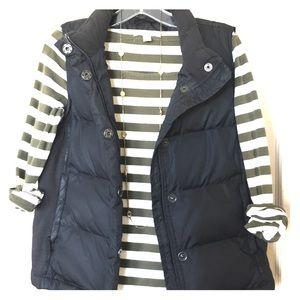 Black GAP Puff Vest